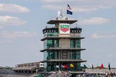 La pagoda a Indianapolis Motor Speedway L'IMS prepara per il Indy 500 XIII immagine stock