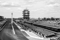 La pagoda a Indianapolis Motor Speedway L'IMS prepara per il Indy 500 XVI fotografie stock