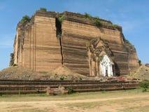 La pagoda non finita Mingun - nel Myanmar Immagini Stock