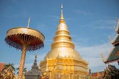 La pagoda in nordico della Tailandia Immagini Stock Libere da Diritti