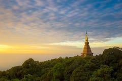 La pagoda sur la crête d'Inthanon Photo stock