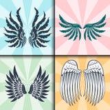 La paix naturelle de plume d'isolement par ailes de pignon d'oiseau de vol animal de liberté conçoivent l'illustration de vecteur Photographie stock libre de droits