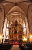 La pala della cattedrale di Ciudad Real, Spagna Fotografie Stock