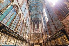 La pala di Veit Stoss nella basilica di St Mary, Cracovia, Polonia Immagine Stock