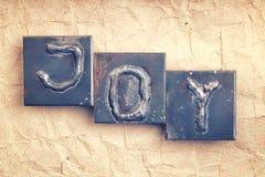 La palabra ALEGRÍA Foto de archivo libre de regalías