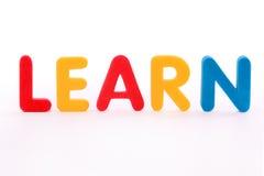 La palabra aprende Fotografía de archivo