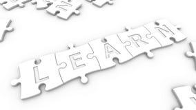 La palabra aprende Imágenes de archivo libres de regalías