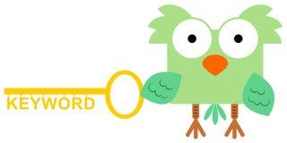La palabra clave del búho ilustración del vector