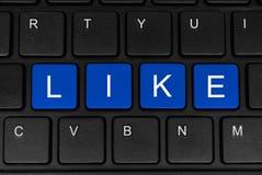 La palabra como hecho de cuatro botones azules Imágenes de archivo libres de regalías