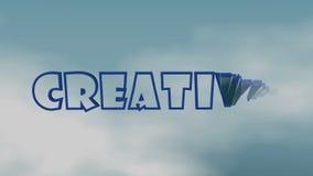 La palabra CREATIVA aparece y desaparece ilustración del vector