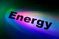 la palabra de la energía fotos de archivo
