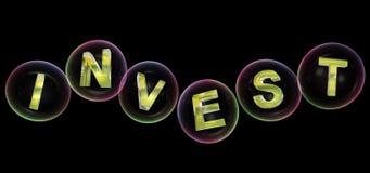 La palabra de la inversión en burbuja libre illustration