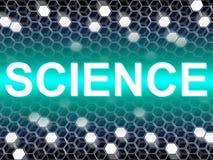La palabra de la ciencia muestra al científico Biology And Chemist Imágenes de archivo libres de regalías