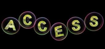 La palabra del acceso en burbuja stock de ilustración