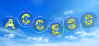 La palabra del acceso en burbuja libre illustration