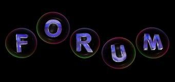 La palabra del foro en burbuja ilustración del vector