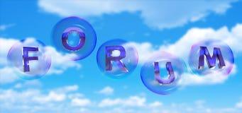 La palabra del foro en burbuja libre illustration