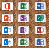 La palabra del Microsoft Office, sobresale, PowerPoint Imagen de archivo