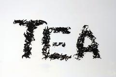 La palabra del té Imágenes de archivo libres de regalías
