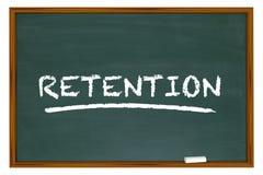 La palabra del tablero de tiza de la retención conserva a empleados de los clientes ilustración del vector
