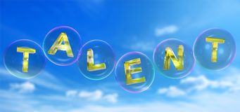 La palabra del talento en burbuja ilustración del vector