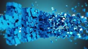 La palabra hola en el fondo azul, saludando