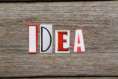 La palabra IDEA Foto de archivo libre de regalías