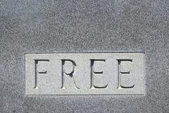La palabra libera en piedra. Imagenes de archivo