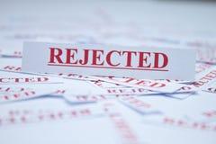 La palabra rechazó. Fotos de archivo