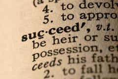 La palabra tiene éxito Imagen de archivo libre de regalías