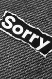 La palabra triste Imagen de archivo libre de regalías