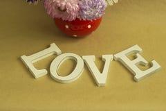 La palabra y el x22; love& x22; Fotografía de archivo libre de regalías