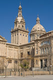 La Palau Nacional de Montjuic Photos stock