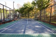 La paleta del tenis de la plataforma se divierte la corte Fotografía de archivo libre de regalías