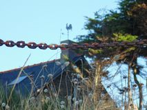 La paleta y la cadena de viento imagen de archivo