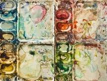 La palette de l'aquarelle Image stock