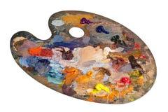 La palette de l'artiste Images stock