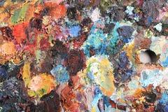 La palette de l'artiste image stock