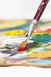 La palette de l'artiste Photographie stock libre de droits