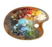 La palette de l'artiste avec des couleurs multiples Photos libres de droits