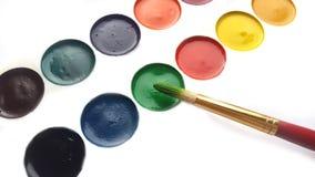 La palette et la brosse du peintre Image libre de droits
