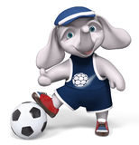 La palla 3d della tenuta dell'elefante del carattere rende illustrazione vettoriale
