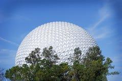 La palla da golf famosa di Epcot come entrate Fotografia Stock Libera da Diritti
