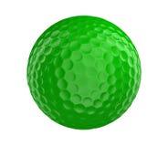 La palla da golf verde 3D rende isolato su un fondo bianco Immagine Stock