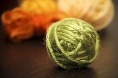 La palla dei fili di lana Fotografia Stock Libera da Diritti