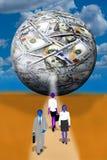 La palla dei soldi Fotografie Stock