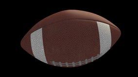La palla di football americano vola e tira, alfa ciclo archivi video