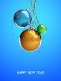 La palla di vetro di Natale gioca 2015 nuovi anni Immagini Stock Libere da Diritti
