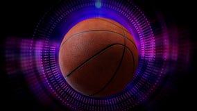 La palla girante di calcio, di pallacanestro e di baseball come sport animati 3d fa segno al fondo dei grafici in HD pieno royalty illustrazione gratis