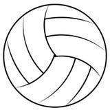 La palla per il gioco del beach volley, palla di pallavolo di vettore contorna la coloritura Fotografie Stock Libere da Diritti